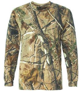 HUNTERS-LONG-SLEEVE-T-SHIRT-Mens-all-sizes-Oak-tree-camo-tee-cotton-hunting-top