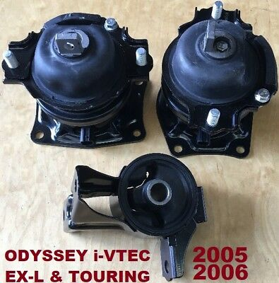 9M1516 3pc fit Honda Odyssey 2005 2006 i-VTEC for Touring /& EXL Engine Mounts
