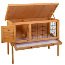 "36"" Wooden Chicken Coop Hen House Pet Animal Poultry Cage Rabbit Hutch w/Run"