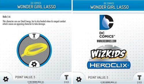 WONDER GIRL/'S LASSO S103 Teen Titans DC HeroClix OP LE Special Object 3D Relic