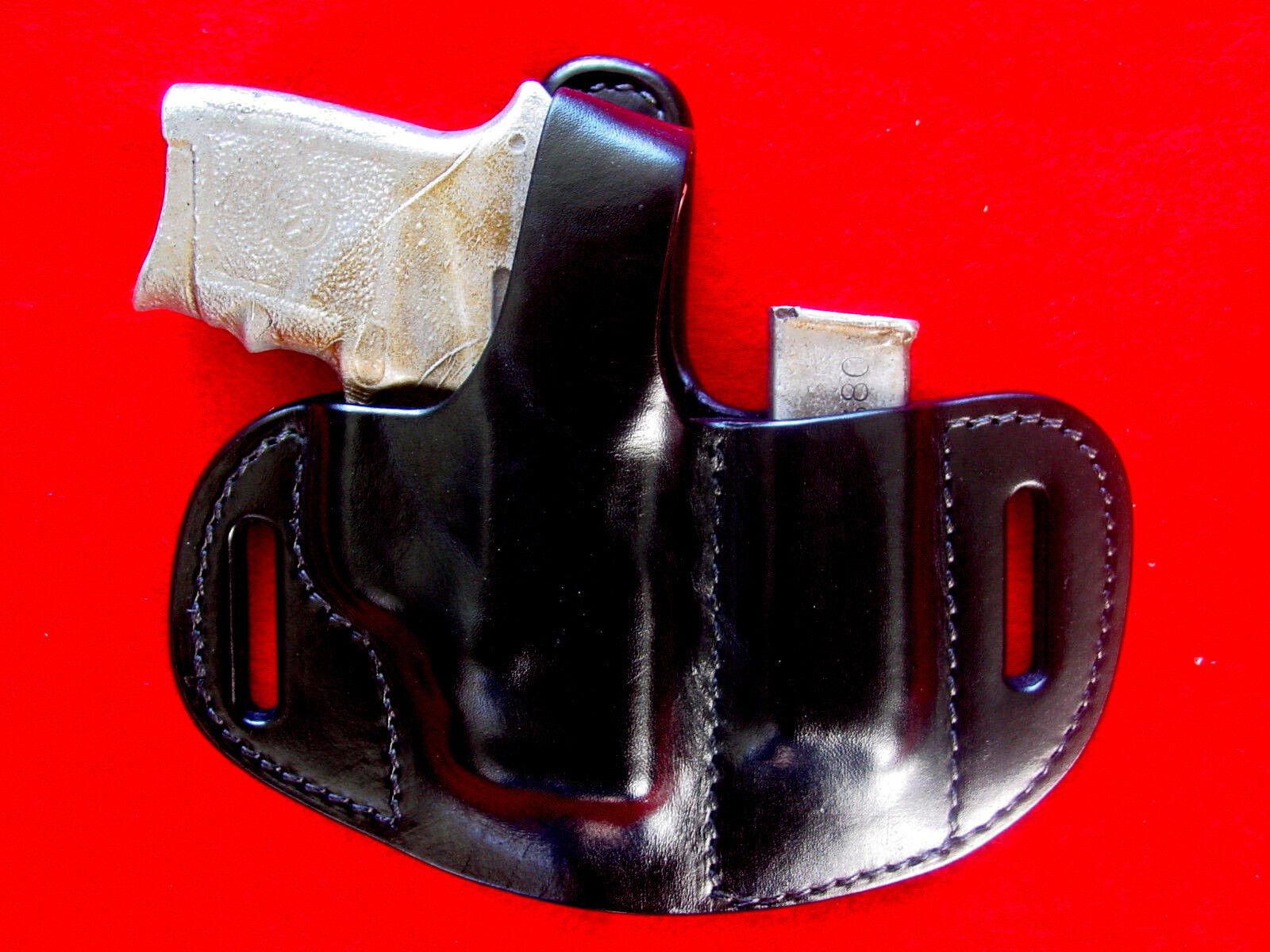Smith & Wesson Projoector del cuerpo 380 + Soporte Negro Cuero de la revista