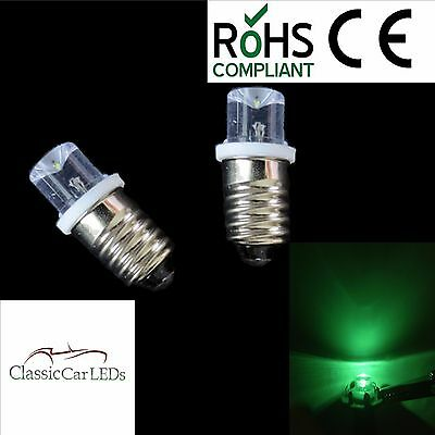 2x GREEN JAGUAR Mk2 TRIUMPH TR3 TR4 TR6 SPEEDO / REV COUNTER LED GAUGE BULBS