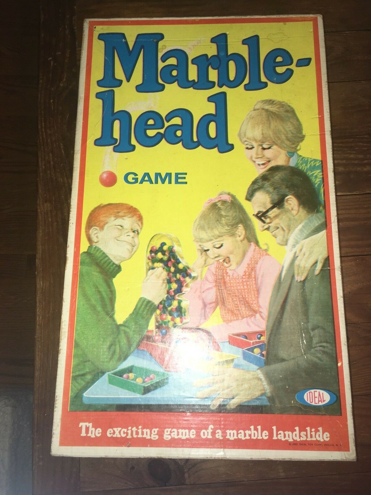 Superb Vintage 1969 Ideal Marblehead Game Complete in Box Marbles Box Excellent