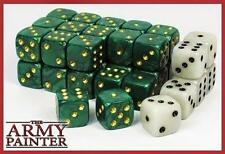 Army Painter Dice D6 14mm 36 Die Set Green/White 30 Green 6 White TAP TL5021