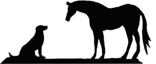 Laser cut 550mm Large Labrador Dog /& Horse Weathervane or Sign Profile