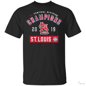 St Louis Cardinals 2019 NL Central Division Champions Mens T-Shirt Black Tee