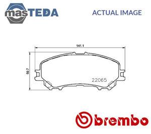 Brembo Front Brake Pad Set Renault Kadjar  P56100