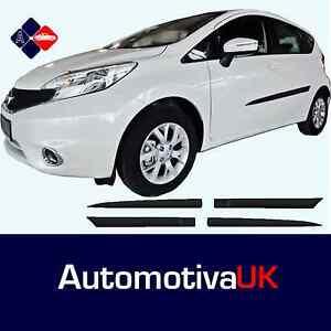 Nissan-Nota-Mk2-roce-Tiras-Puerta-Protectores-Proteccion-lateral-Molduras-Kit