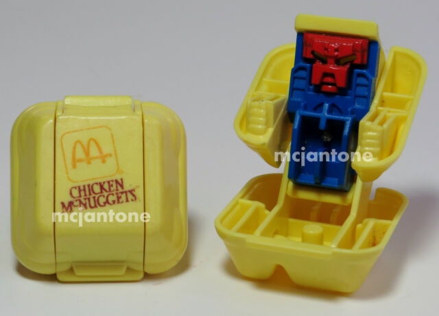 LOOSE McDonald's 1987 Changeables CHICKEN McNUGGETS Robot TRANSFORMER Nugget Toy