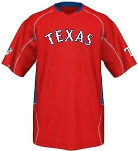 detailed look fbe2b 3fca2 Details about Texas Rangers MLB Majestic Men's Fast Action Jersey Red Big  And Tall Sizes