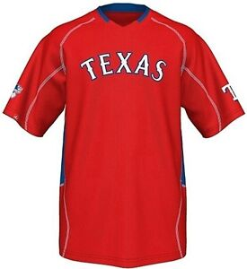 detailed look 1dc3b 93301 Details about Texas Rangers MLB Majestic Men's Fast Action Jersey Red Big  And Tall Sizes