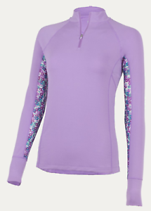 Noble Outfitters Ashley Performance Long Sleeve Shirt-Hyacinth-M