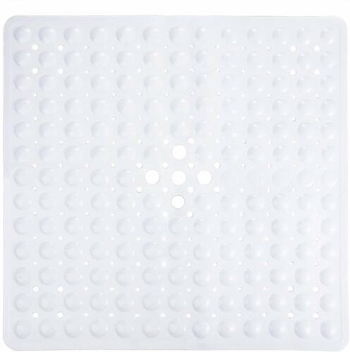 """Non-Slip With Suction Cups /& Drain Holes 21/"""" X 21 Square Bathtub Shower Mat"""