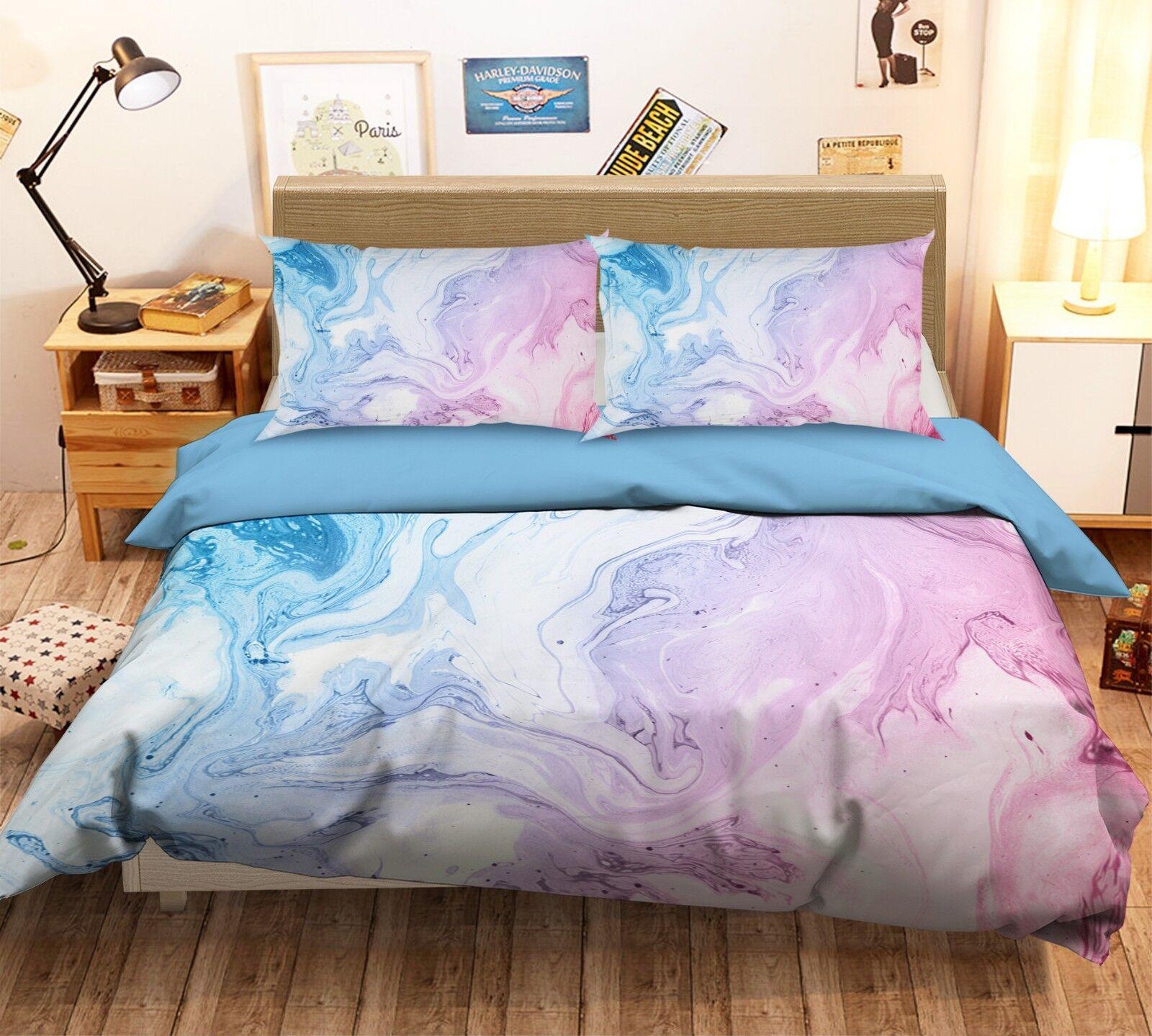 3D  Mode Schöne Textur 5 Bett Kissenbezüge steppen Duvet Decken Set Single DE