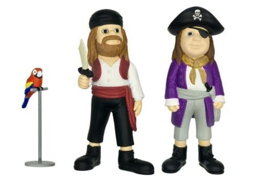 Pippi Langstrumpf 2 Piraten und Papagei Rosalinda Figuren Kunststoff