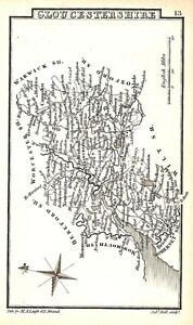 Antique-map-Glocestershire