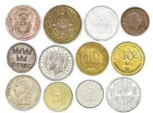 SET-OF-12-COINS-FROM-12-DIFFERENT-COUNTRIES-COINS-LOT