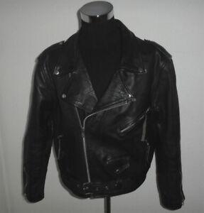vintage-JARVIS-BOND-Motorradjacke-oldschool-black-motorcycle-80s-jacket-48-M-L