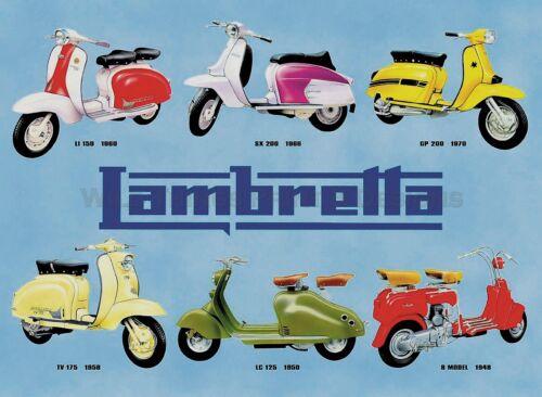 LAMBRETTA .. 015 A1//A2//A3 /& A4 Print Vintage Poster .