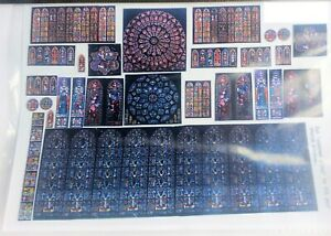Stained-Glass-Film-for-Church-windows-F132a-Colour-OO-Scale-Langley-Model-Decals