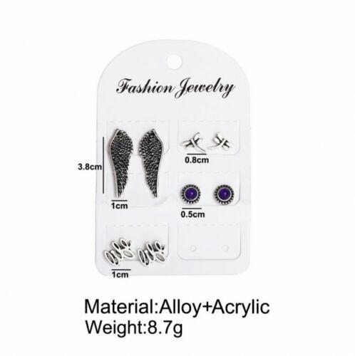 12Pairs Retro Women Ear Stud Hoop Boho Earrings Set Drop Dangle Jewelry Gifts