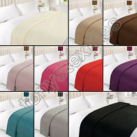 PLAIN LARGE SUPER SOFT SOFA CHAIR BED BLANKET FLEECE THROW COVER CHAIR COSY