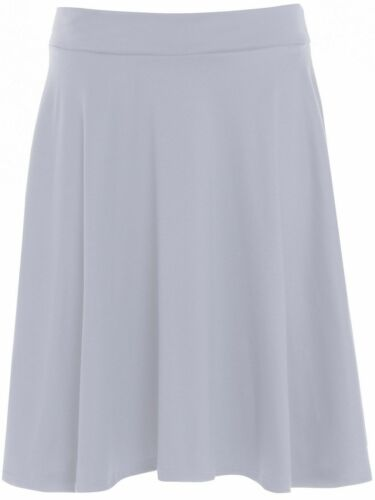New Ladies Plain Stretch Band Flared Skater Women Party Skirts Plus Size