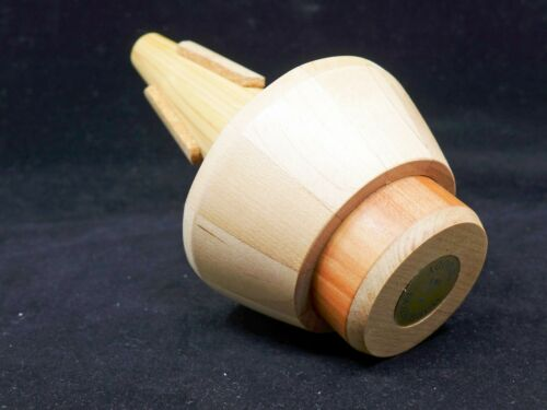 """Wooden Cup Mute for Trumpet Made From Real Pine! Warburton /""""Woody/"""" TR-5 SALE"""