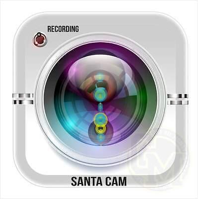 Santa Cam Vinyl Sticker Fun Novelty Xmas Christmas Idea
