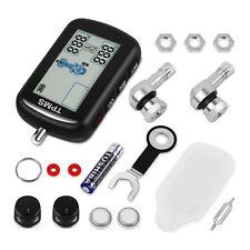 Wireless Motor Cycle Bike TPM Tire Pressure Monitoring System 2Sensor LCD Screen