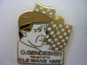 PIN-039-S-VOITURE-LE-MANS-1958-O-GENDEBIEN-FERRARI-N-14
