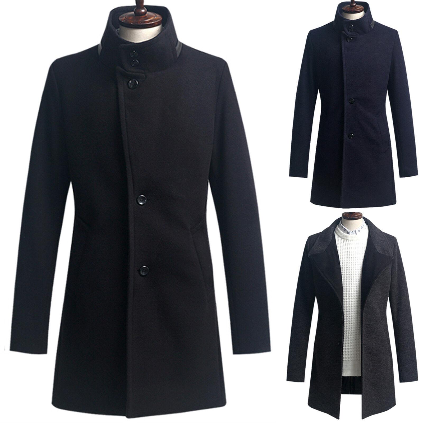Mens Slim Fit Fabulous Half Coat Blazer Jacket Jumper Outwear Top W054 - XS S M