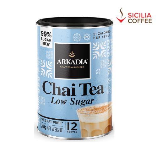 Arkadia Chai Tea 240g Low Sugar *99% Sugar Free* FREE COFFEE SAMPLE INCLUDED*