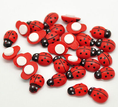30 X SELF ADHESIVE LADYBIRDS/BUGS ~ EMBELLISHMENTS ~ TOPPERS ~ SCRAPBOOK~ CRAFTS