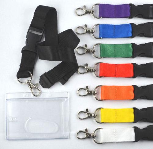1 x Schlüsselband mit Ausweishülle schwarz EC Kartenhalter Lanyard Ausweishalter