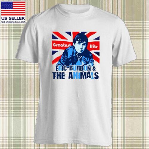 Eric Burdon And The Animals Logo Rock Singer Men/'s White T-shirt Size S to 3XL