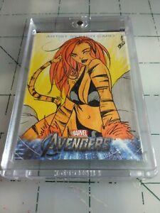 Marvel Sketch Card Avengers Assemble 2012 Hand Drawn 1:1 Upper Deck