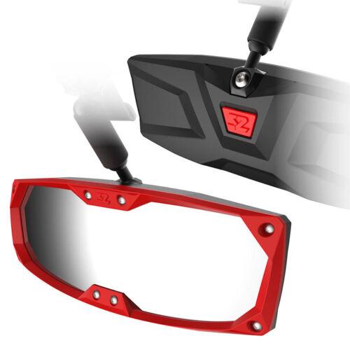 """RZR Pioneer 1k Ranger Wildcat Seizmik Halo-R Rearview Mirror RED Bezel 1.75/"""""""