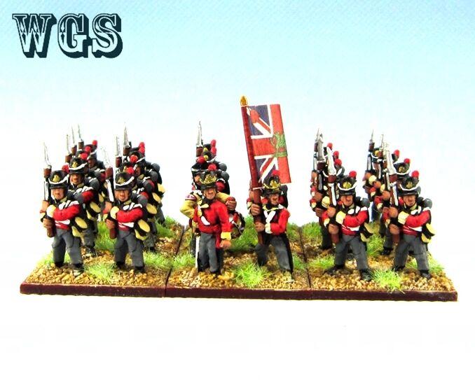 15mm Napoleonic WGS Painted British Infantry Regiment (24 figures) NBA1-2