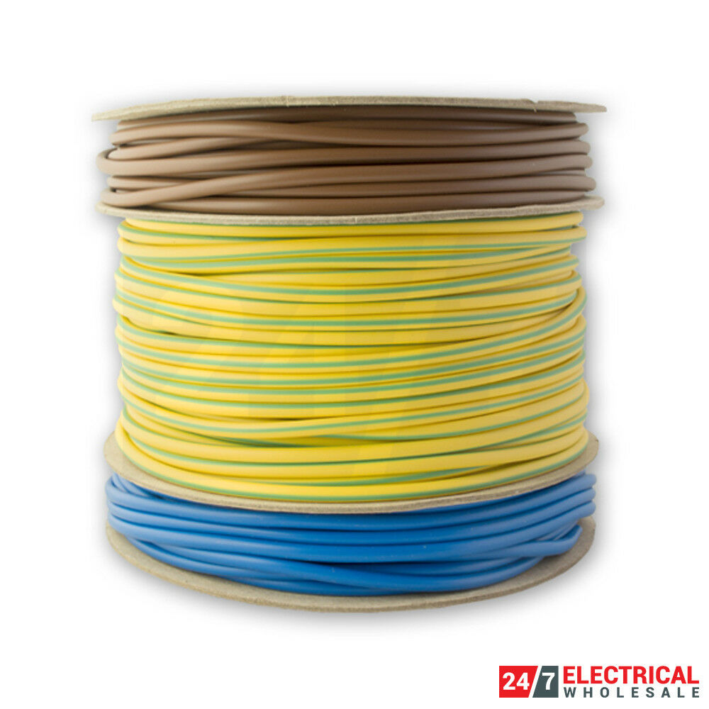 NEW PVC Cable Sleeving 100m 3mm Brown Each
