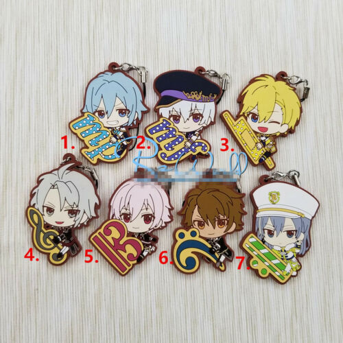T1468 Anime  idolish7 rubber Keychain Key Ring Straps Rare cosplay