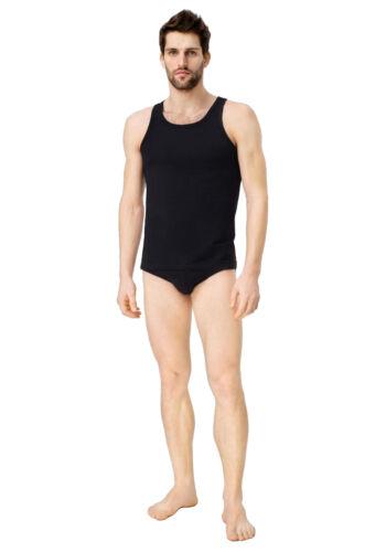 UTENOS Organic Cotton Mens Underwear Tank Top Sleeveless Vest Shirt