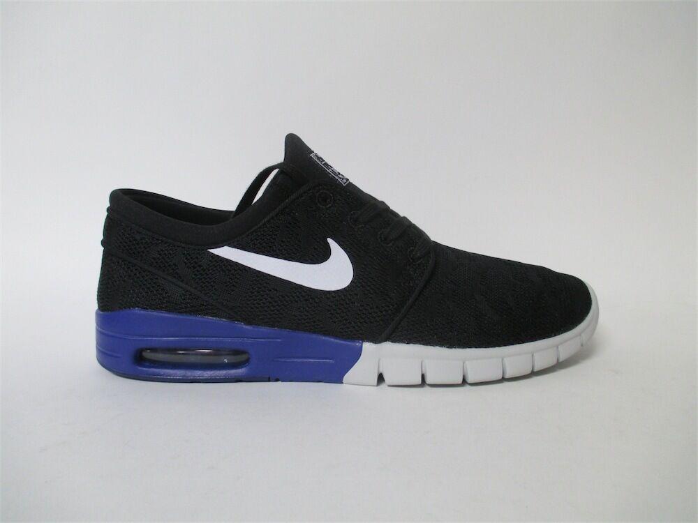 Nike SB Stefan Janoski Max Black Deep Night Blue White Sz 10 631303-015