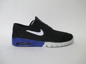 56824be4a5 Nike SB Stefan Janoski Max Black Deep Night Blue White Sz 9 631303 ...