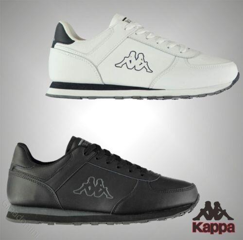 Kappa Homme avec empiècements conçu Pesaro DLX Cuir Trainers-UK 7-12
