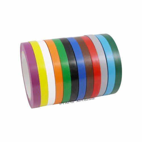 4 rolls 1/2 x 108' Vinyl Adhesive Pinstriping Tape Lane Marking Car 12 Colors