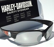 NEW* Harley-Davidson HD1503 Matte Black Orange Mirrored Lens Sunglass Safety