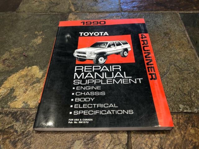 1990 Toyota 4runner Service Shop Repair Manual Supplement