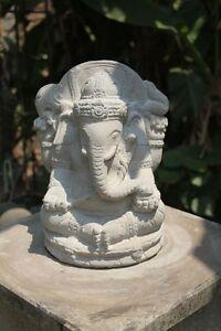 Ganesha 33cm buddha steinguss skulptur figur deko garten for Asia garten deko