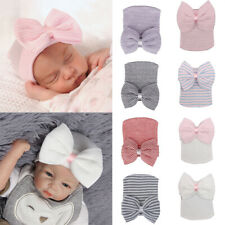Cute Newborn Baby Infant Girl Toddler Comfy Bowknot Cap Beanie Hat DS